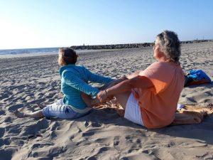 Shiatsu handen en voeten rug beh strand